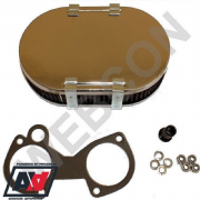 Genuine Weber 40 45 DCOE Carburettor Chrome Air Filter Kit 45mm Height AFB300